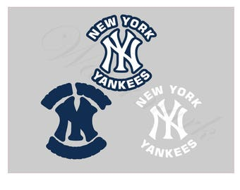 New York SVG and Studio 3 Cut File Stencil and Decal Cut Files Logo Silhouette Cricut SVGS Cutouts Downloads Decals Yankees Logos Baseball
