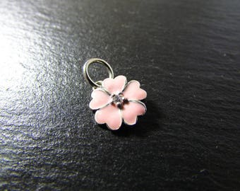 1 flower enamel and 925 Sterling Silver Pendant