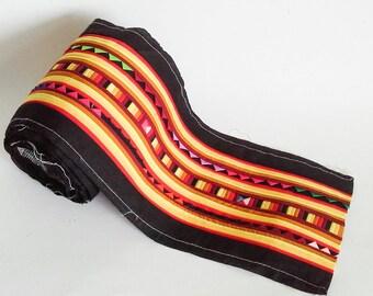 Lisu Decoration Fabric  , Lisu Fabric , Hill Tribe Fabric, Thai Hill Tribe, Lisu Textile, Hill Tribe Handmade.