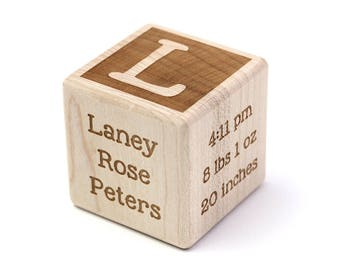 Baby Gift Block Wood Block For Baby New Child Gift  Maple Wood Block New Baby Gift Block Personalized Gift Block Customized Engraved Block