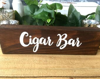 Cigar Bar Sign | Wooden Cigar Bar Sign | Cigar Bar | Wedding Sign | Wooden Wedding Sign | Reception Sign | Wedding Reception Sign