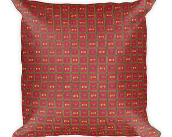 Nkunda African wax print Square Pillow