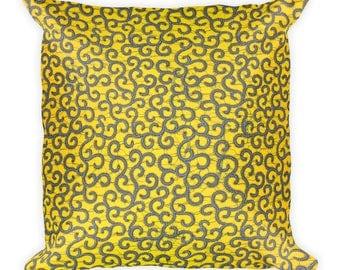 Nambogo African Inspired Wax Print Square Pillow
