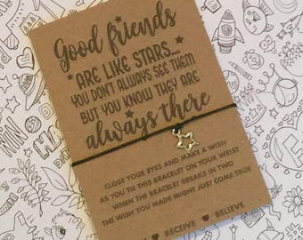 Good Friends Are Like Stars Wish String Good friends are like stars wish Bracelet