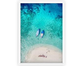 Busy Beach Art Print, Aerial Beach Print, Digital Prints, Modern Beach Photography, Ocean Waves, Aerial Beach Art, Printable Wall Art, Sand