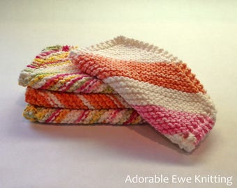 Set of 4 Knitted Dishcloths