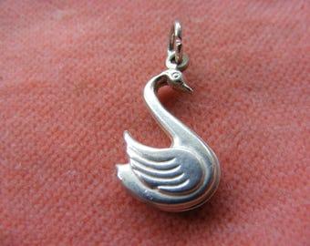Vintage Sterling Silver Charm Elegant Swan