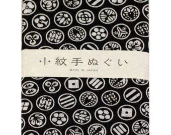 Japanese Hand towel Small Patern TENUGUI  'Kamon'(Family Mark) 30 x 90cm Cotton