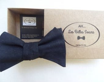 Leo cotton fabric tied bow