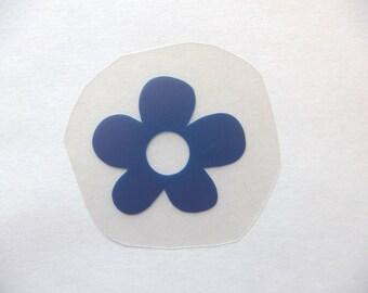 Applied flex PU flower transfer on garment