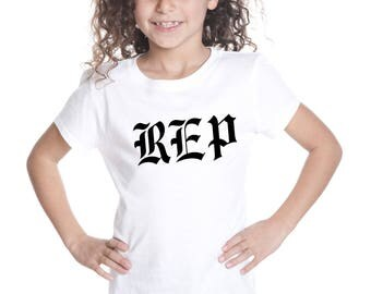 Youth White New Taylor Swift Reputation REP Only Graphic T-Shirt Shirt Fashion Tee - Free Shipping