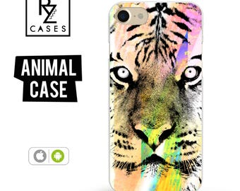 Tiger Phone Case, Animal Phone Case, iPhone 7 Case, Tiger iPhone Case, Gift for Her, iPhone 7 Plus Case, iPhone 6S Case, Samsung Galaxy Case
