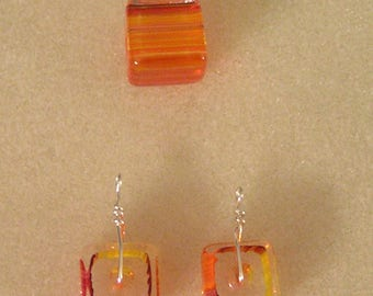 Orangeyellow Glass Set