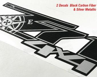 Z71 4X4 Expedition Chevy Decals Stickers Truck Silverado Black Carbon Fiber 3M Decal Sticker