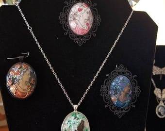 Victorian Extremely detailed hand painted cameo.