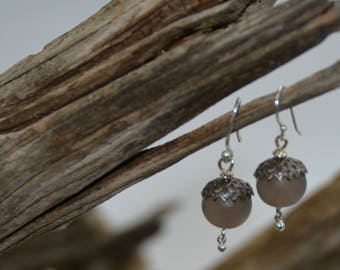 Agate and Sterling Silver Earrings