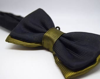 Unisex bow tie. Bow tie, black and gold. For special Occasions