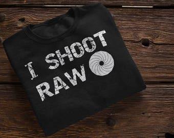 I Shoot Raw Photographer Photography Camera Manual Setting Professional Photographer Shirt