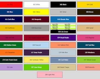 HTV - Sheets of 1 Color - Heat Transfer Vinyl