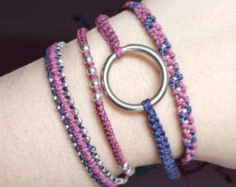 Blackberry Fancy Combo Bracelets, Guatemalan Bracelets, Handmade bracelets, colorful bracelets, fruit based, weave, friendship bracelets.