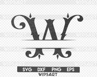 SALE! Split monogram Font svg, split monogram alphabet collection, split monogram letters clipart,Split monogram Font dxf,Split monogram svg