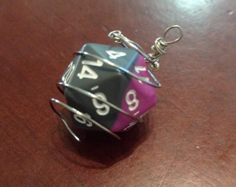D20 Wire Wrapped Charm