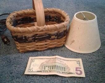 Handmade Basket Lamp Night Light