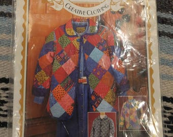 Four Corners Creative Clothing 5769 Justa Jacket pattern Uncut Sizes.