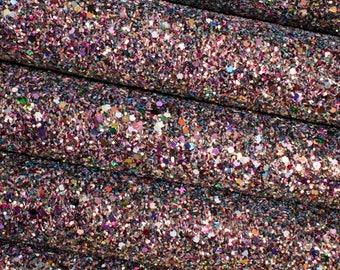 Carnival Lights Premium Quality Chunky Glitter Fabric Sheet