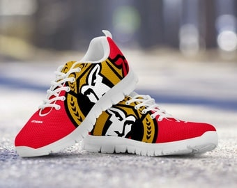 Ottawa Senators Custom Running Shoes/Sneakers/Trainers - Ladies + Mens Sizes fan, collector, gift