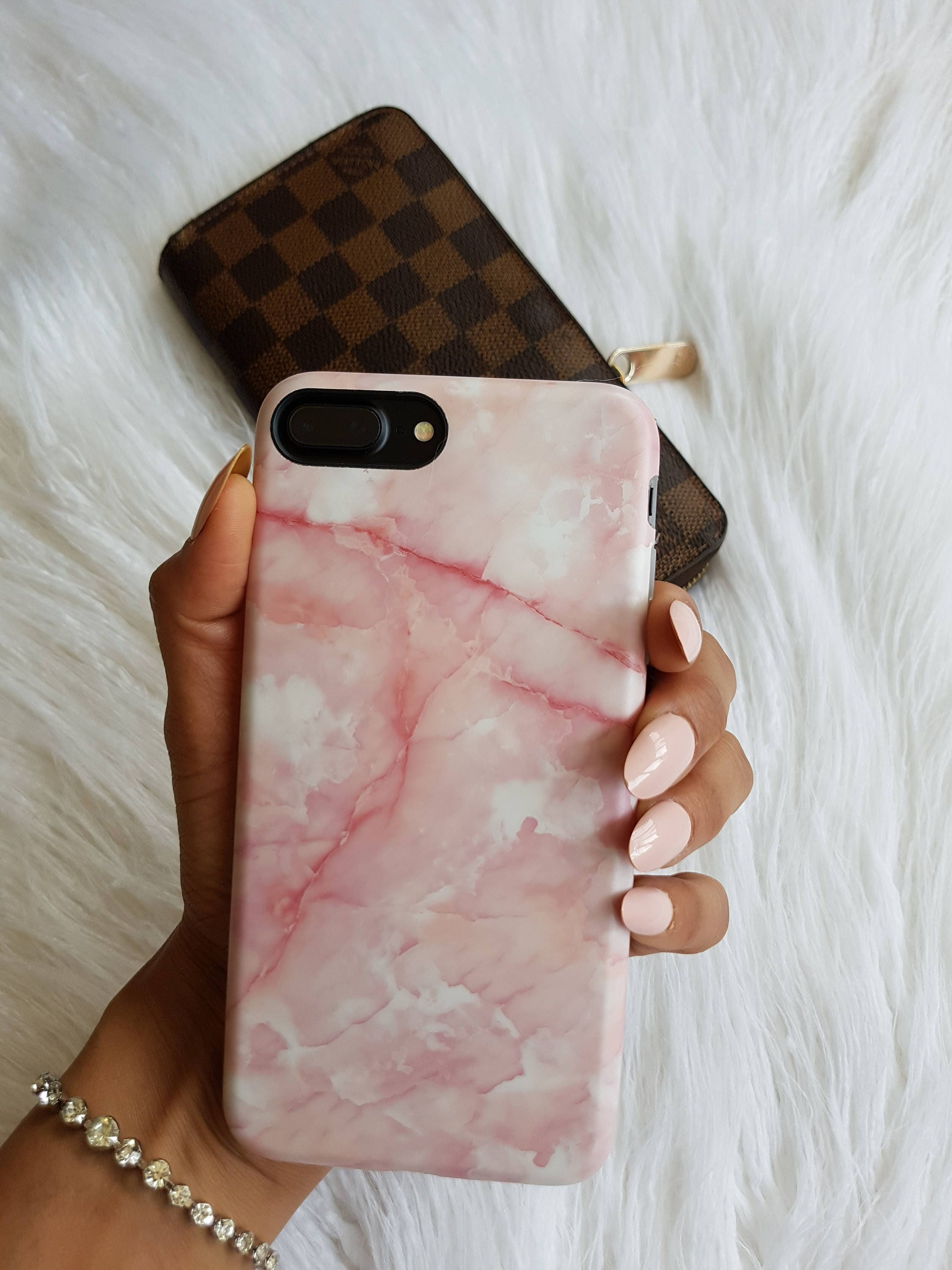 pink marble iphone 8 plus case