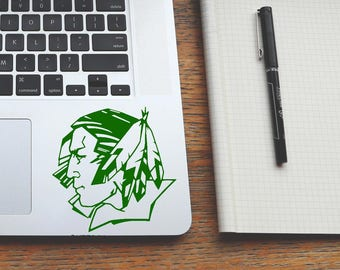 MANY COLORS&SIZES fighting sioux decal, und north dakota sticker, trackpad decals, macbook laptop stickers, cornhole decals, ipad stickers