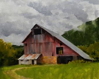 Gilmanton Farm Oil Painting Print