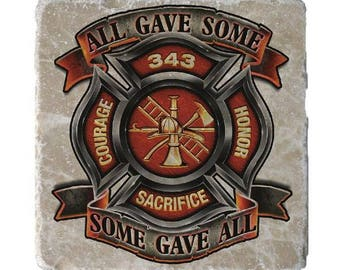 Firefighters Tribute Decal Sticker