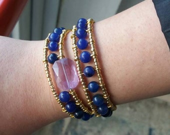 Double lap bracelet Hand made