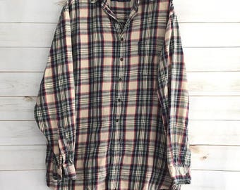 Abercrombie & Fitch Plaid Flannel The Big Shirt Big and Tall Mens Size Medium