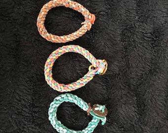 Stretchy leather chord bracelets (3 styles)