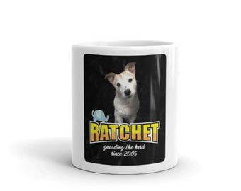Ratchit Wood Cute Jack Russell Terrier Mug Jack Russell Terrier Fan Group Merchandising Gift