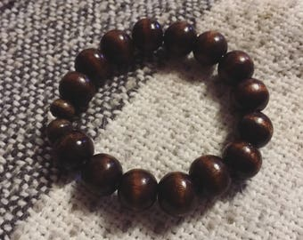 Lucky Wooden Bead Bracelet