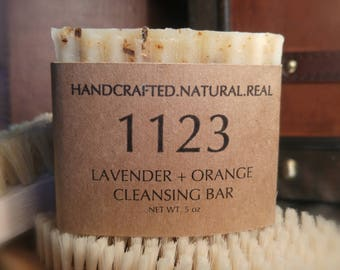 Lavender + Orange Cleansing Bar