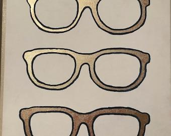 Glasses Canvas