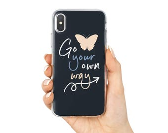 Quote iPhone Case, Women iPhone 7 Case, Pretty iPhone Case, iPhone 8 Case, iPhone X Case, iPhone 6 Case, iPhone 8 Plus, 7 Plus, 6 Plus
