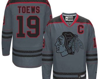 Chicago Blackhawks #19 Jonathan Toews Grey Jersey