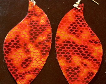 Flame Scale Earrings
