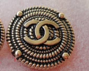 CC button retro  jewelry accessories