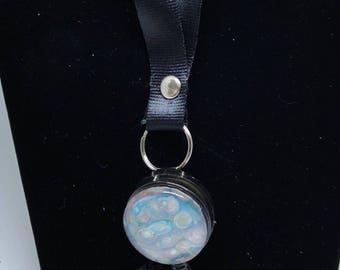 Lanyard - Retractable Badge Reel  - Badge Lanyard - Badge Holder - nurse - galaxy - Colorful  - unique -  - blue - shimmer - nurse gift