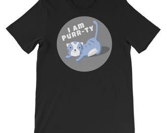 Cute Cat T-Shirt, I Am Purr-Ty Cat Pun Shirt