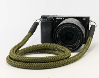 DSLR Camera Strap Khaki-Camerastrap kahki-hand-made strap-worldwide shipping-camera rope for Kompaktkmaera-Olympus