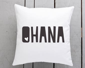 ohana pillow, ohana cushion, ohana homewares, ohana gifts, family pillow, family cushion, family gifts, family home wares