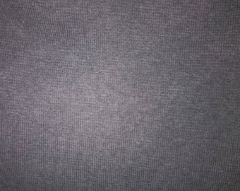 1 m fabric tubular jersey cotton & elastane type boat gray collar